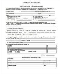 7+ Sample Repair Estimate Forms | Sample Templates
