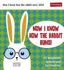 Now I Know How The Rabbit Runs Kalender 2019 Kalender Portofrei