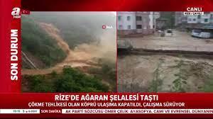 Son dakika! Rize'de Ağaran Şelalesi taştı! | Video videosunu izle
