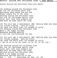 Song Rockin  Around The Christmas Tree By John Marks Song Lyric Rock In Around The Christmas Tree