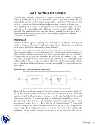 Embedded Systems Design Notes Controls And Feedback Embedded System Design Lab Notes