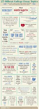 offbeat college essay topics mental floss