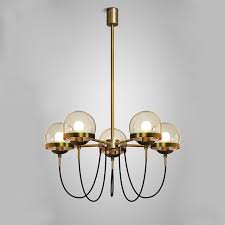 vintage glass ball pendant lamp 5 heads antique metal hanging light hotel lobby restaurant living room metal hanging lights e58