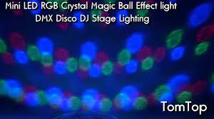 Mini LED Crystal Magic Ball DMX Disco DJ Stage Light - YouTube