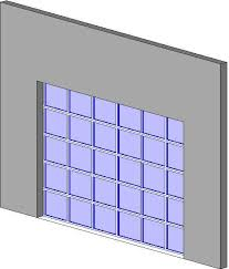 glass panel garage door