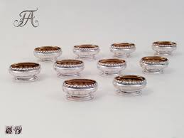 salt cellars beautiful royal set of ten silver partly gilt salt cellars house of wettin