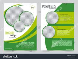 Green Brochure Template Green Brochure Template Flyer Design Abstract Stock Vector Royalty
