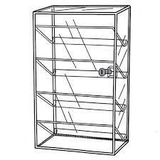 countertop display case with lock locking countertop jewelry display case