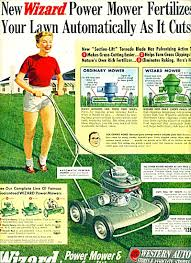Lawn Mowing Ads Western Auto Wizard Mowers Ad 1958