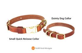dainty dog collar double d ring leather collar for small breeds
