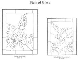 hummingbird stained glass patterns rubber stamps free pattern