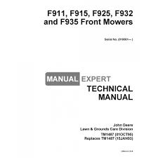 john deere tm1487 technical manual f911 f915 f925 f932 f935 front john deere tm1487 technical manual f911 f915 f925 f932 f935 front mowers