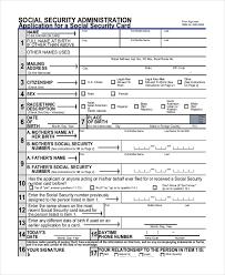 race in application form 9 sample social security application forms free sample example