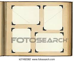 Vintage Photo Album Page Page Of Vintage Photo Album With Photo Frames Stock Image