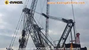 China Sany 80 Ton Crawler Crane Scc800c China Crane Sany