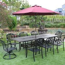 china 7 piece metal patio conversation