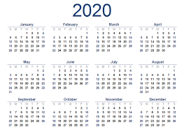Printable Calendars For 2020 Free 2020 Printable Calendar Ko Fi Where Creators Get