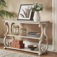 Lorraine Wood Scroll TV Stand Sofa Table by iNSPIRE Q Classic |  Overstock.com Shopping