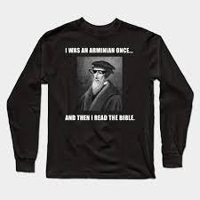 Armenian Vs Calvinism Chart Funny Theology Arminian Calvinist Bible Joke Shirt By Merchdudes