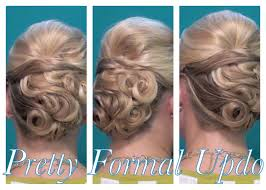Pin Curl Hair Style pretty pincurled formal updo youtube 4599 by stevesalt.us