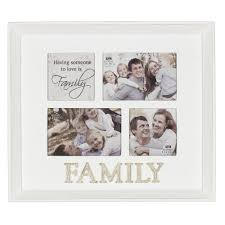 Love Is Family White Multi Aperture Triple Photo Frame