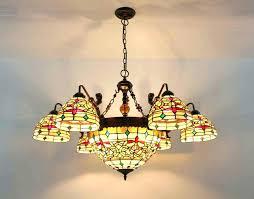 art glass circles tiffany style pendant chandelier