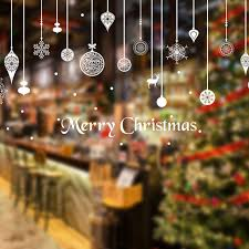 christmas wall stickers door decoration home store wall window