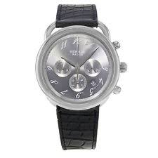 hermes watches men women new used luxury hermes ar4 910 arceau chronograph stainless steel automatic men s watch