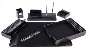 Amazon.com : Majestic Goods Leather Desk Set, 7 Piece, Black (105-DSG7K) :  Office Desk Organizers : Office Products