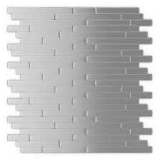 self adhesive decorative wall tile in stainless steel