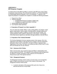 Response To Rfp Sample 26 Printable Winning Rfp Response Examples Forms And