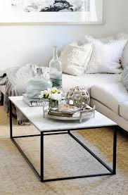 in most cases there are typically five main components that i always use to style my client s coffee tables a tray to corral all of those loose bits and