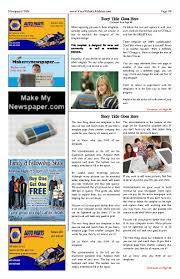 Full Page Newspaper Ad Template Free Newspaper Templates Print And Digital Makemynewspaper Com