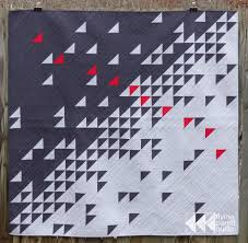 Flying Geese Quilt Pattern Fascinating Meeting Of The Geese MQG Quilt Of The Month Flying Parrot Quilts