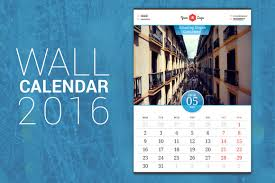 Small Picture Wall Calendar 2016 by AntartStock on Creative Market Creative