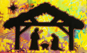 Manger Scene Applique Design Nativity Silhouette Table Runner Or Wall Hanging 6x10 7x12