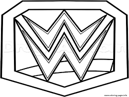 Diva Championship Belt Free Coloring Pages Free Coloring Pages