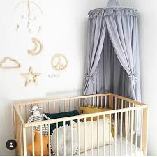 White/Grey/Pink Princess Bed Canopy Bed Curtains for Kids Room Decor ...