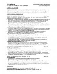 Csr Resume For Bank Customer Service Skills Example Representative