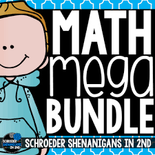 2nd Grade Math Charts Math Bundle 2nd Grade Math Scoot Anchor Charts And Task Cards