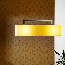 Contemporary Style E27 Light Source Fabric Shade Rectangular Pendant Lamp  L