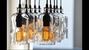 repurposed bottle chandelier