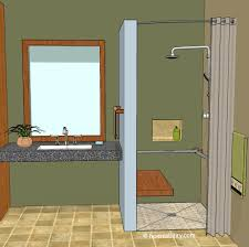 curbless shower homeability