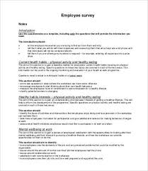 Printable Surveys Printable Survey Template 100 Free Word PDF Documents Download 3
