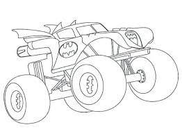 Page Couleur Monster Truck Monster Coloring Pages Online