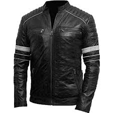 cafe racer unique style mens classic biker vintage motorcycle leather jacket