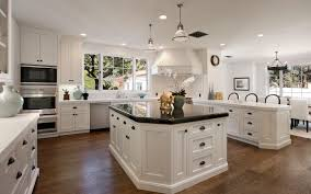 white kitchen lighting. Gallery Of Black Rectangular Pendants In A White Kitchen Including Brown Varnished Oak Wood Pictures Lighting