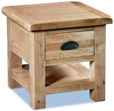 corndell fairford light oiled oak lamp table 1 drawer