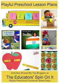 Preschool Learning Activities Weekly Lesson Plan The Educators
