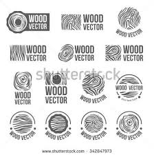 wood furniture design logo. annual tree growth rings logo icon set with vector drawing of the cross-section wood furniture design 9